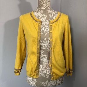 Sparrow Yellow & Gold Emanation Cardigan Size Med